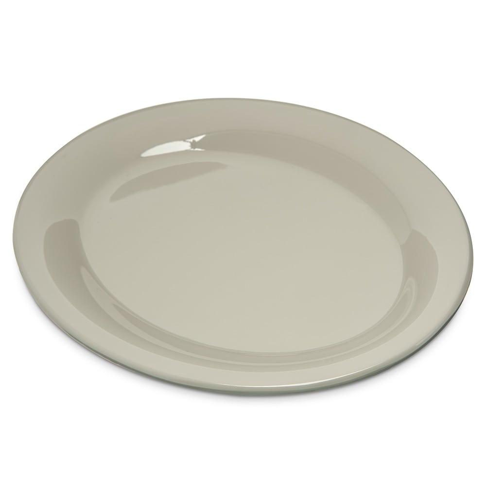 "Carlisle 4308642 Oval Platter - 9.5"" x 7.25"", Melamine, Bone"