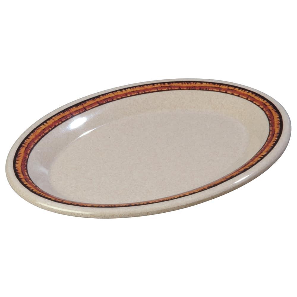 "Carlisle 43087908 Oval Platter - 9.5"" x 7.25"", Melamine, Sierra Sand on Sand"