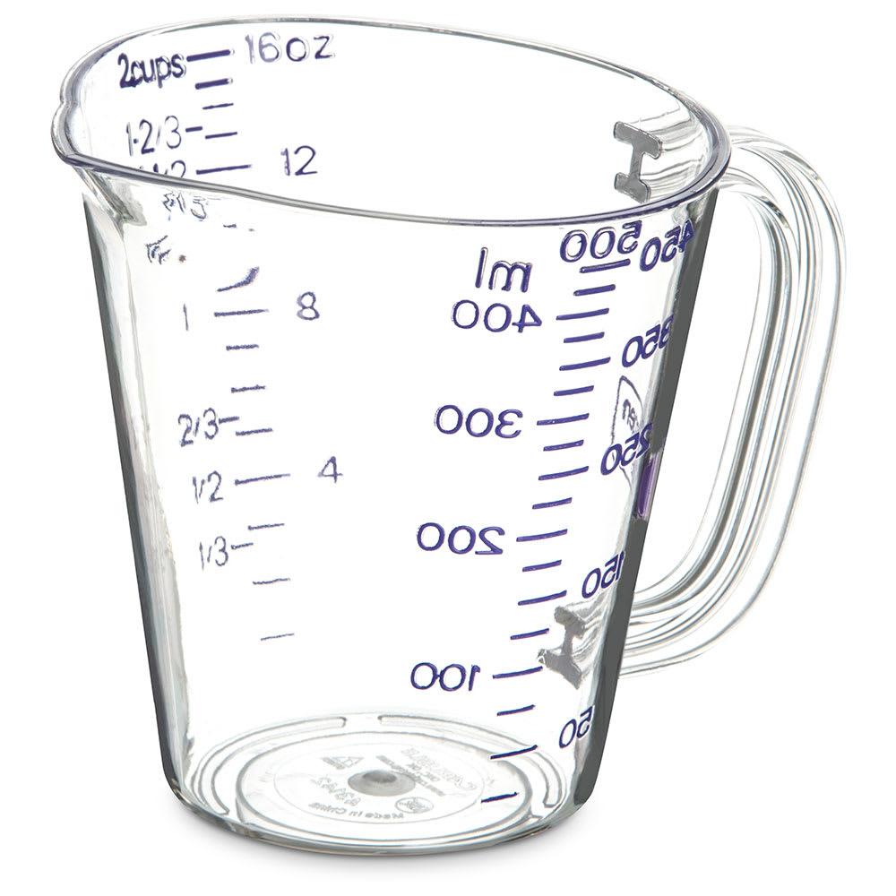 Carlisle 43142AF07 Oval Measuring Cup w/ 16 oz Capacity, Pour Spout, Purple