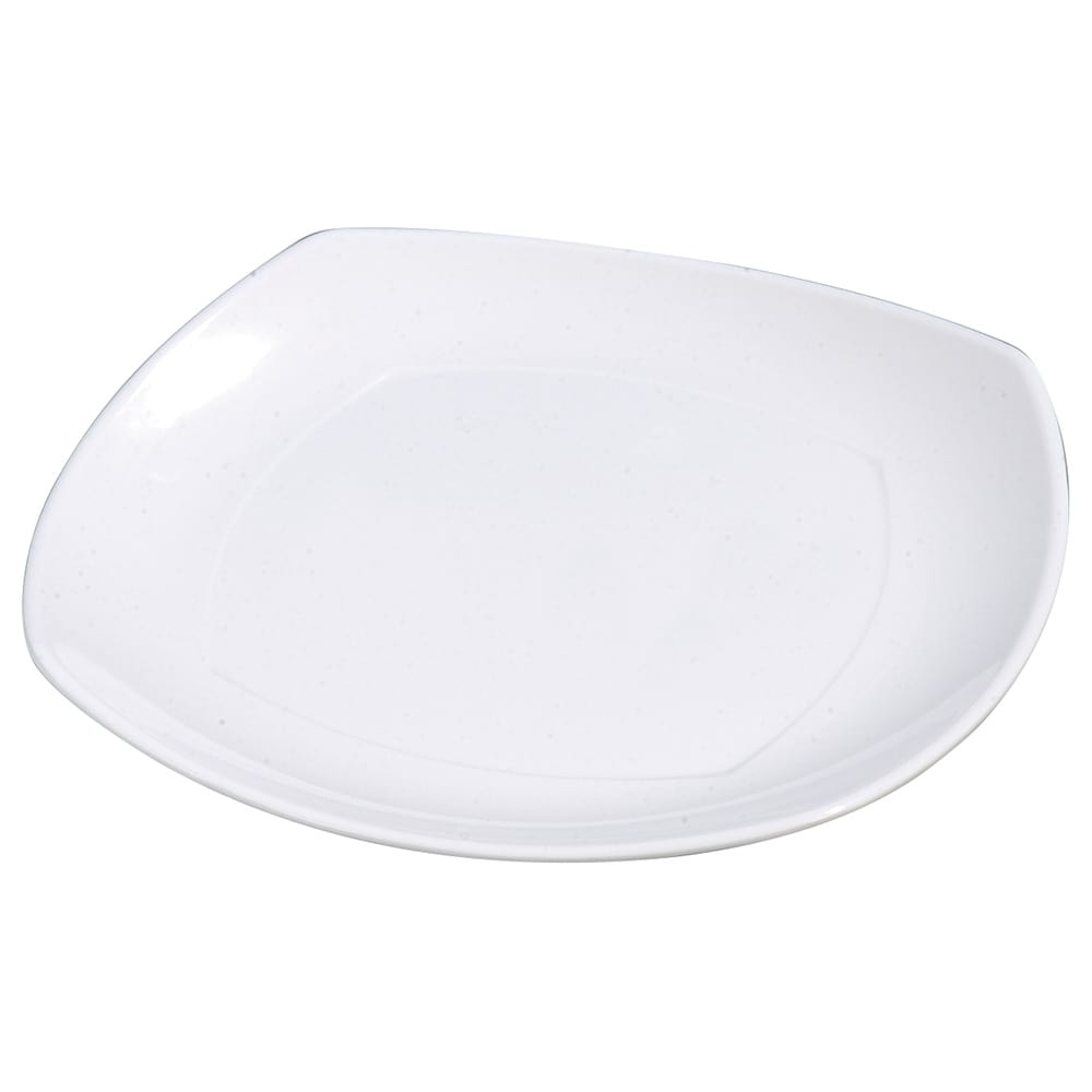 "Carlisle 4330402 11.5"" Square Dinner Plate w/ Rolled Edge, Melamine, White"
