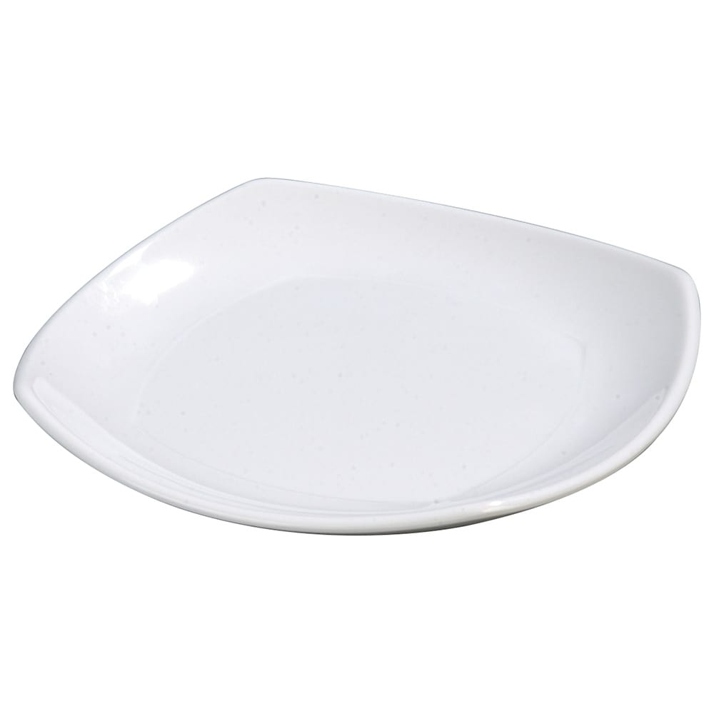 "Carlisle 4330602 9.5"" Square Dinner Plate w/ Rolled Edge, Melamine, White"