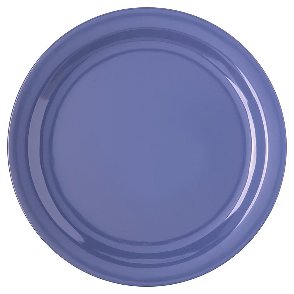 "Carlisle 4350014 10.25"" Round Dinner Plate w/ Reinforced Rim, Melamine, Blue"