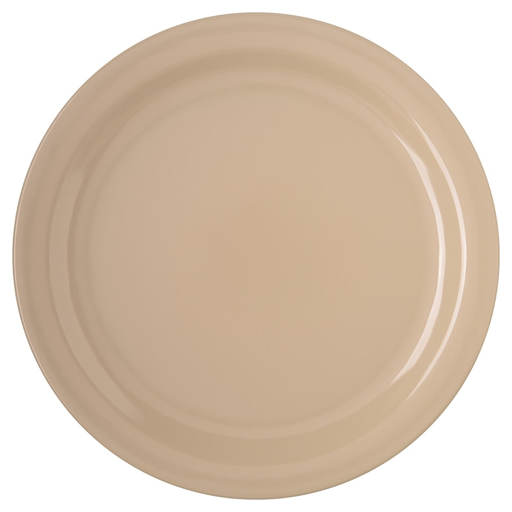 Carlisle 4350025 10 25 Round Dinner Plate W Reinforced Rim Melamine Tan