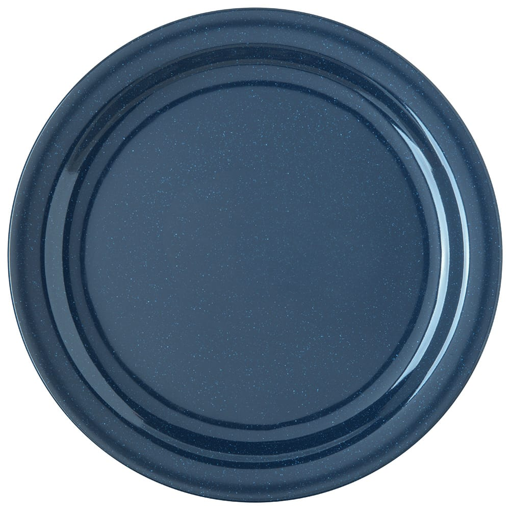 "Carlisle 4350035 10.25"" Round Dinner Plate w/ Reinforced Rim, Melamine, Cafe Blue"