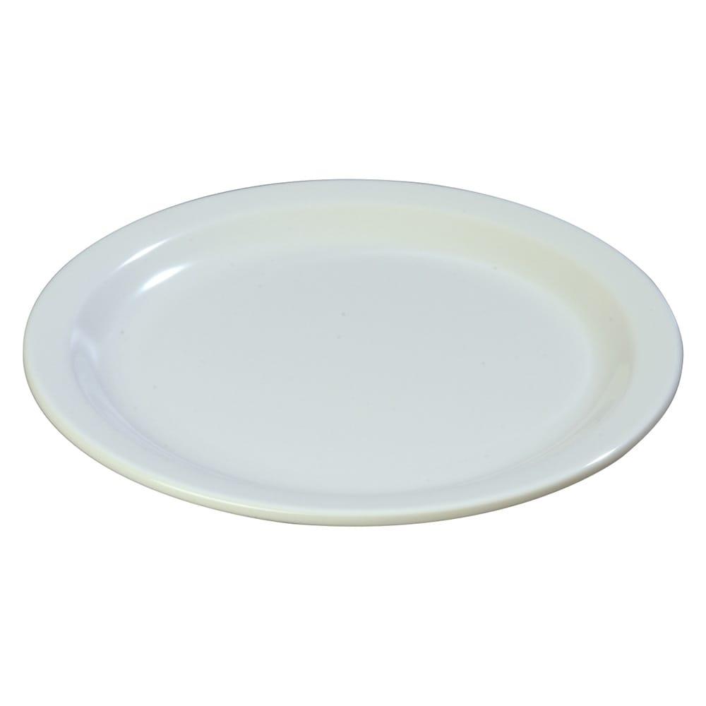 "Carlisle 4350102 9"" Round Dinner Plate w/ Reinforced Rim, Melamine, White"