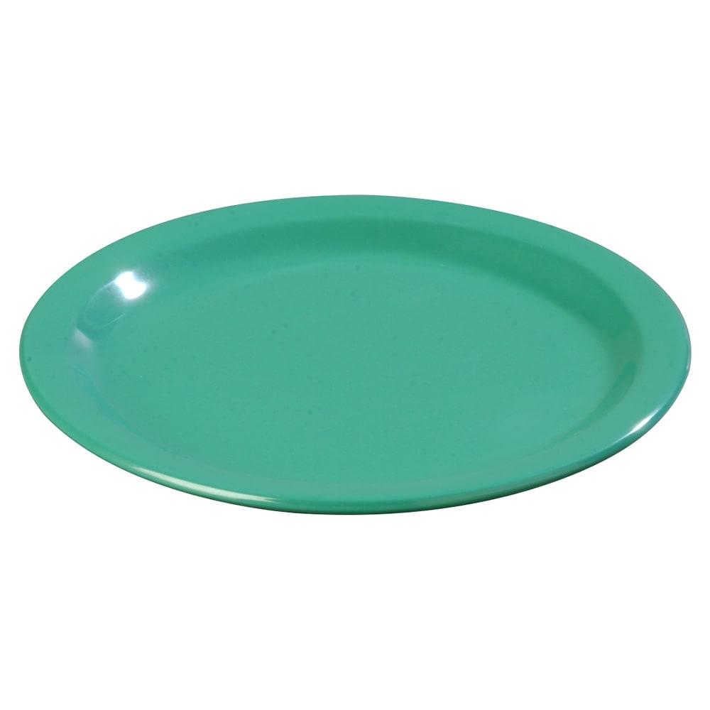 "Carlisle 4350109 9"" Round Dinner Plate w/ Reinforced Rim, Melamine, Meadow Green"
