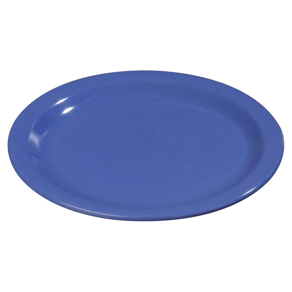 "Carlisle 4350114 9"" Round Dinner Plate w/ Reinforced Rim, Melamine, Blue"