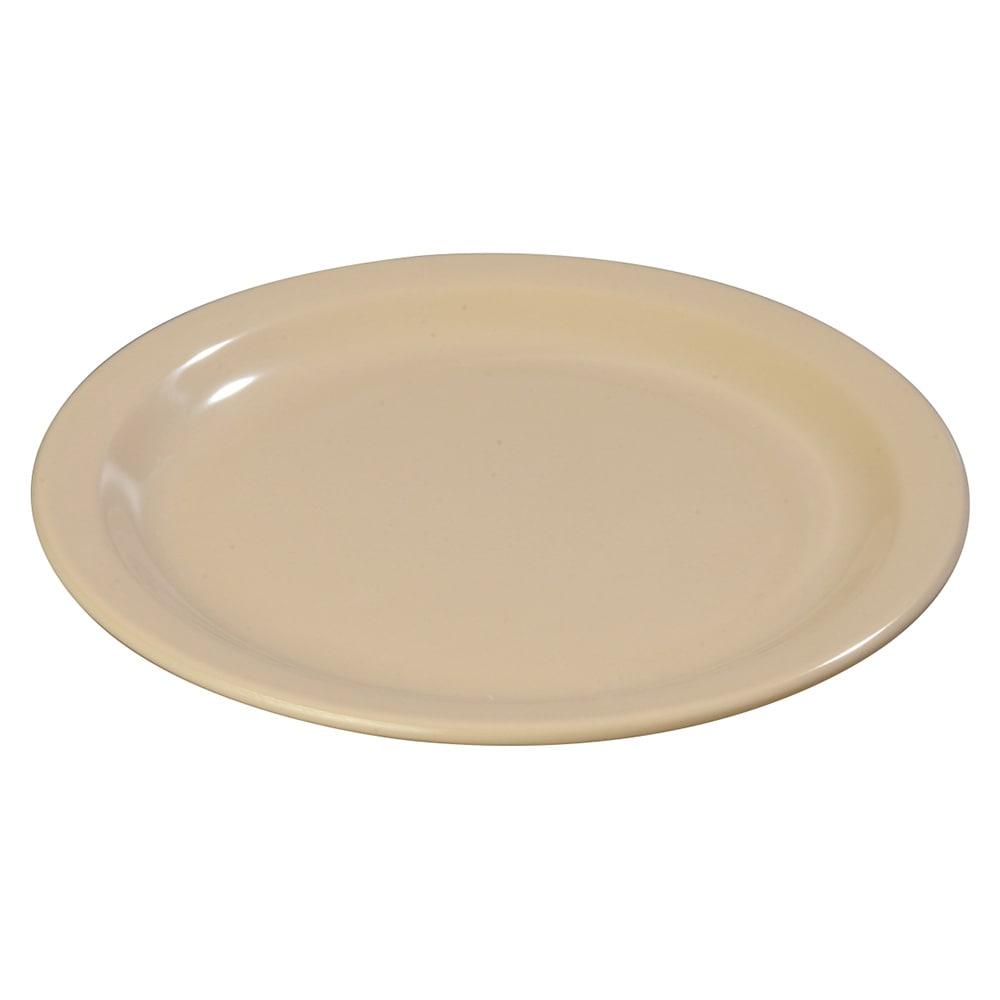 "Carlisle 4350125 9"" Round Dinner Plate w/ Reinforced Rim, Melamine, Tan"
