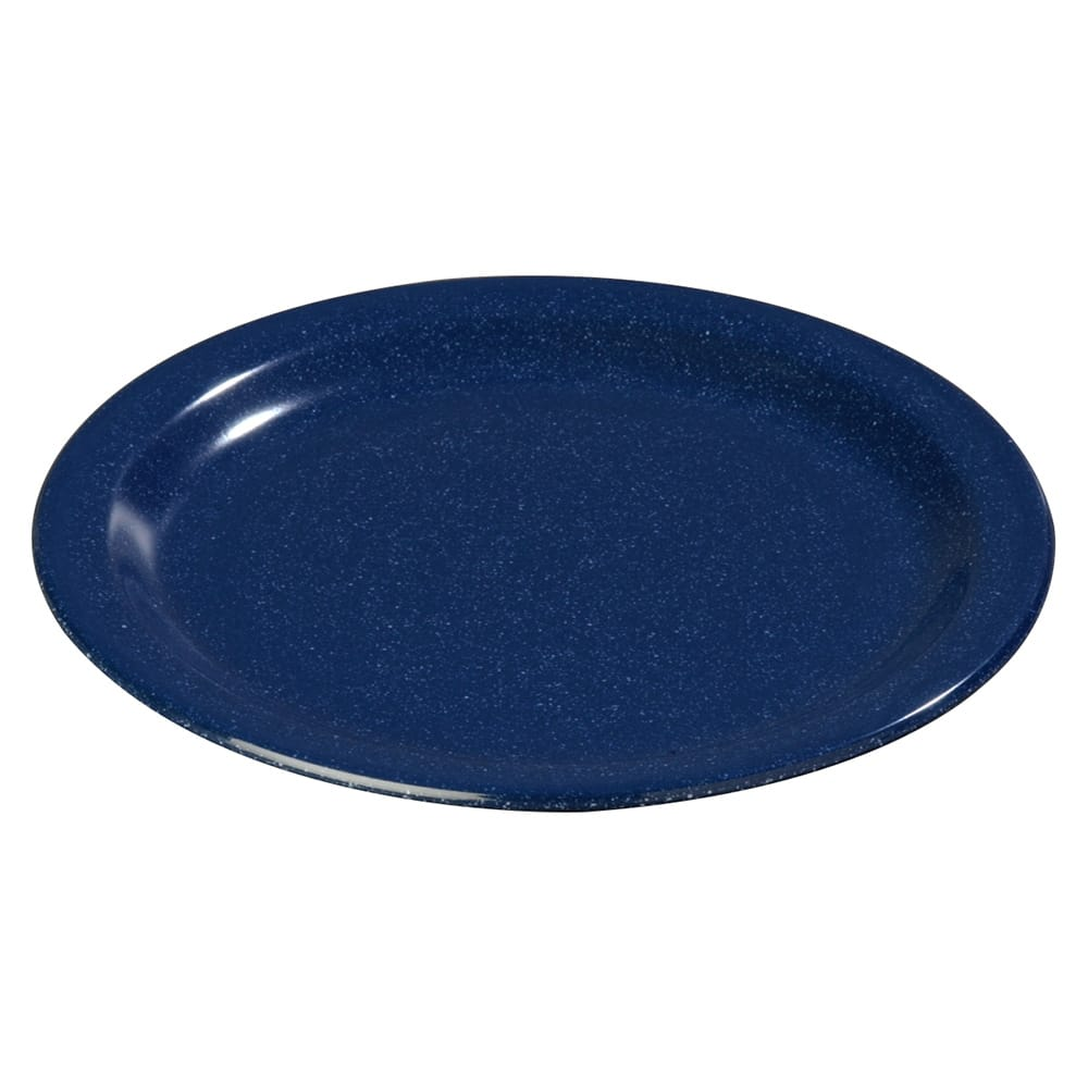 "Carlisle 4350135 9"" Round Dinner Plate w/ Reinforced Rim, Melamine, Cafe Blue"