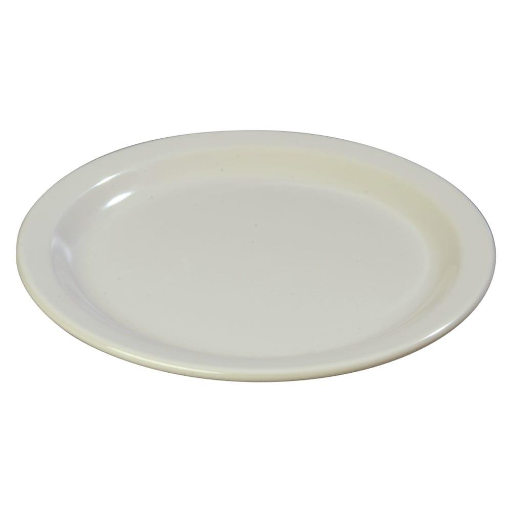 "Carlisle 4350142 9"" Round Dinner Plate w/ Reinforced Rim, Melamine, Bone"
