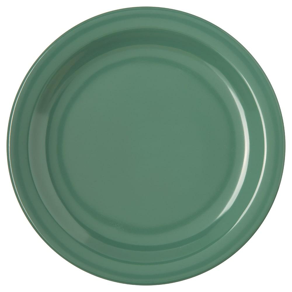 "Carlisle 4350309 7.25"" Round Salad Plate w/ Reinforced Rim, Melamine, Meadow Green"