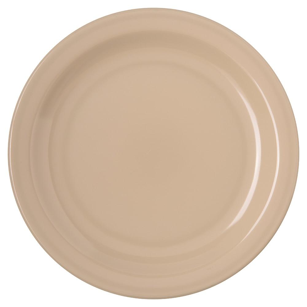 "Carlisle 4350325 7.25"" Round Salad Plate w/ Reinforced Rim, Melamine, Tan"