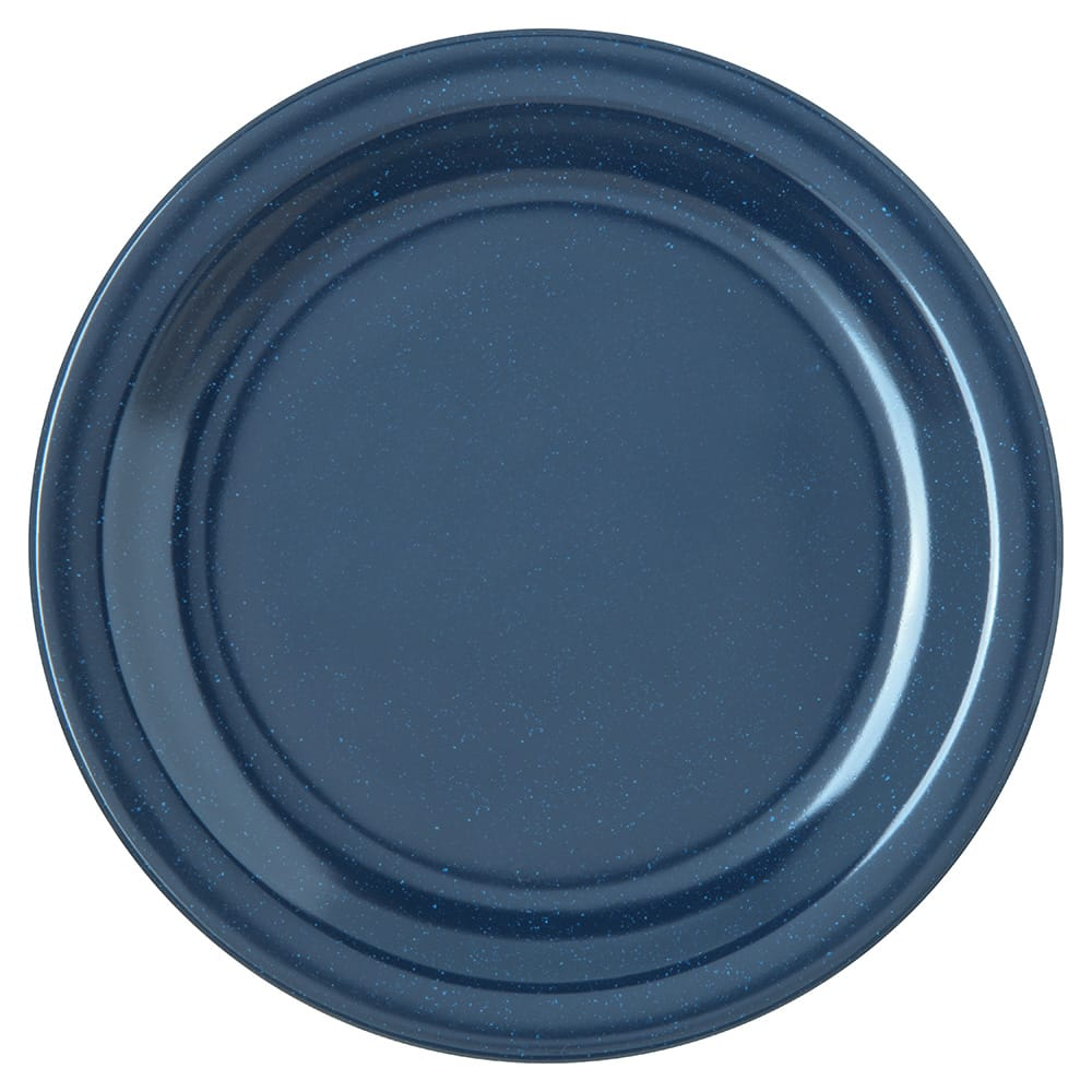 "Carlisle 4350335 7.25"" Round Salad Plate w/ Reinforced Rim, Melamine, Cafe Blue"