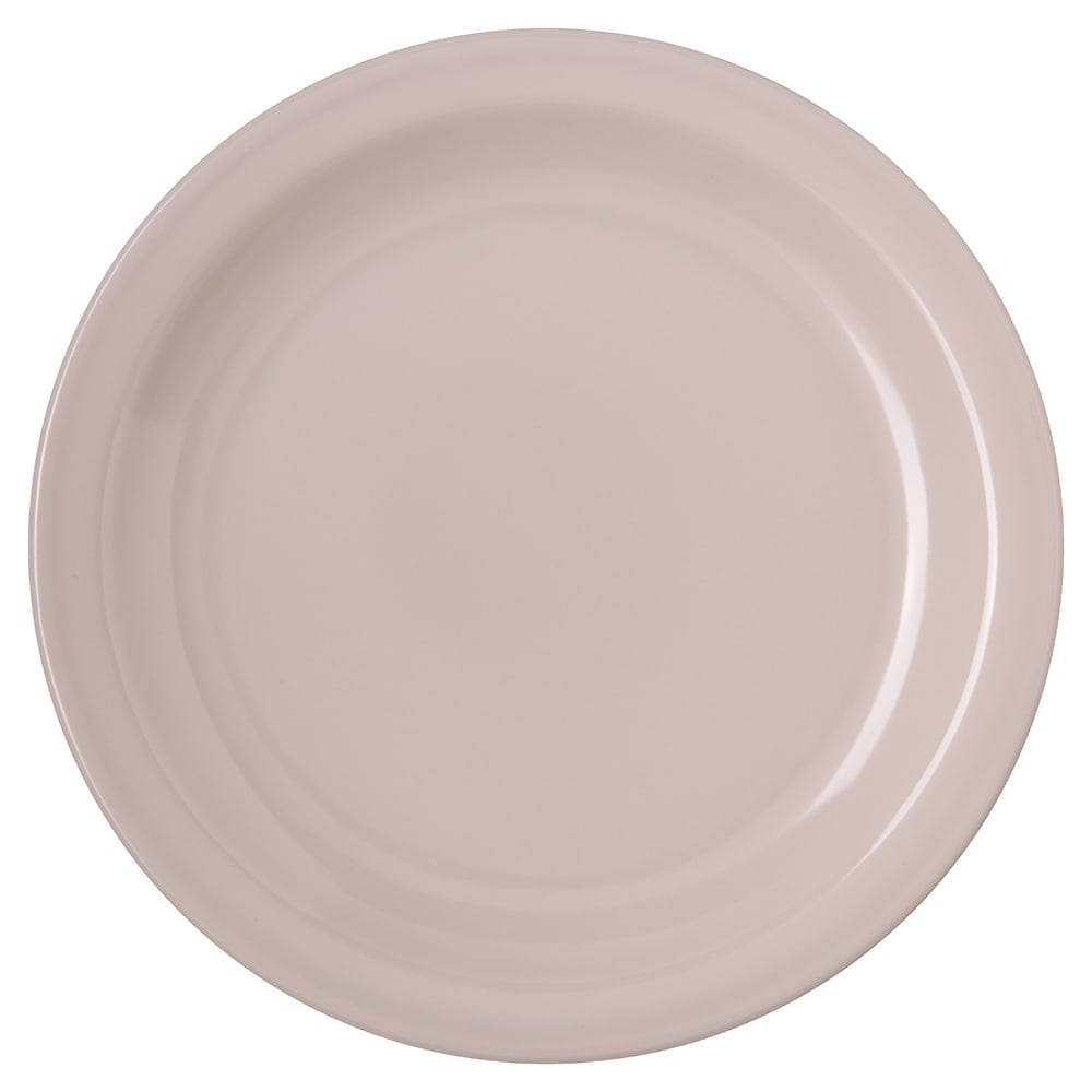 "Carlisle 4350342 7.25"" Round Salad Plate w/ Reinforced Rim, Melamine, Bone"