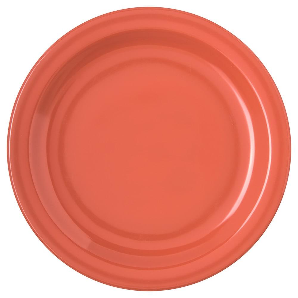 "Carlisle 4350352 7.25"" Round Salad Plate w/ Reinforced Rim, Melamine, Sunset Orange"