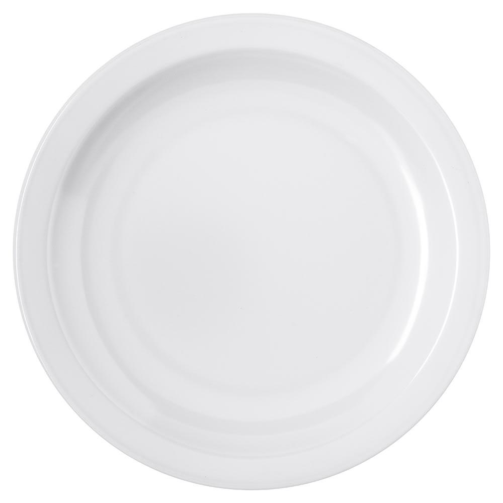 "Carlisle 4350402 6.5"" Round Pie Plate w/ Reinforced Rim, Melamine, White"