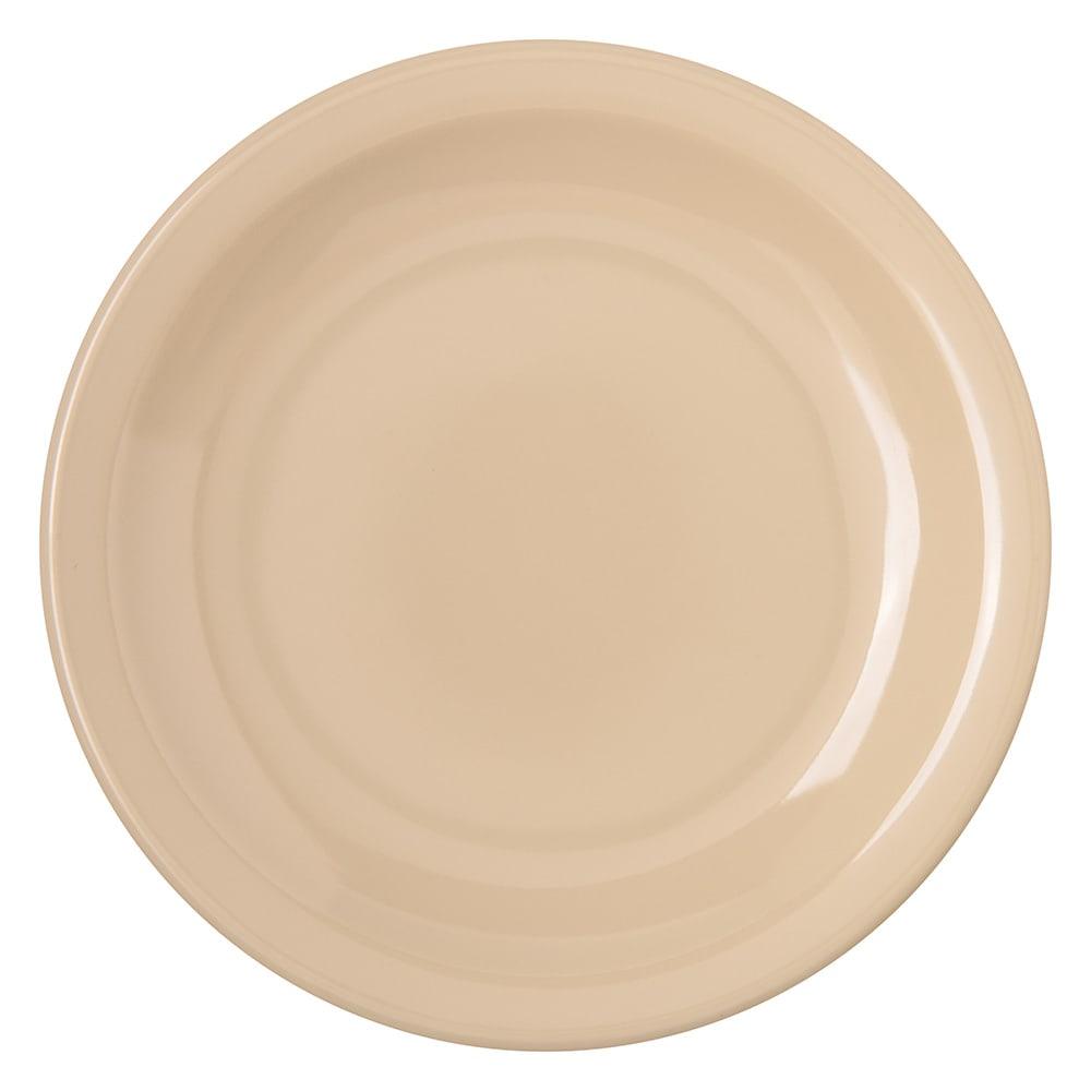 "Carlisle 4350525 5.625"" Round Bread & Butter Plate w/ Reinforced Rim, Melamine, Tan"