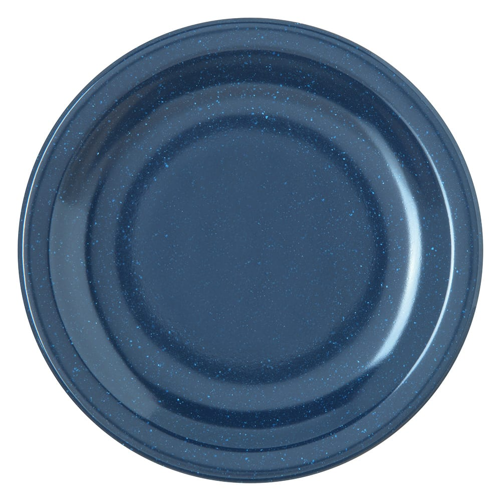 "Carlisle 4350535 5.625"" Round Bread & Butter Plate w/ Reinforced Rim, Melamine, Cafe Blue"