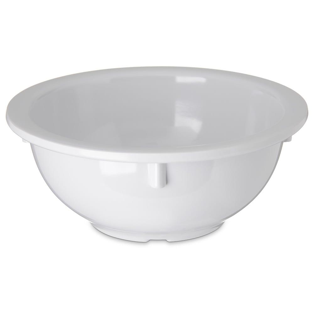 "Carlisle 4352202 5.5"" Round Rim Nappie Bowl w/ 14 oz Capacity, Melamine, White"