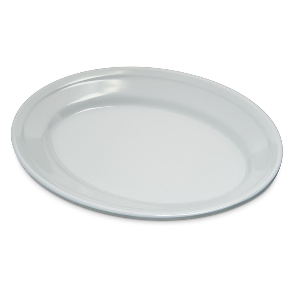"Carlisle 4356302 Oval Platter w/ Reinforced Rim, 9.25"" x 6.25"", Melamine, White"