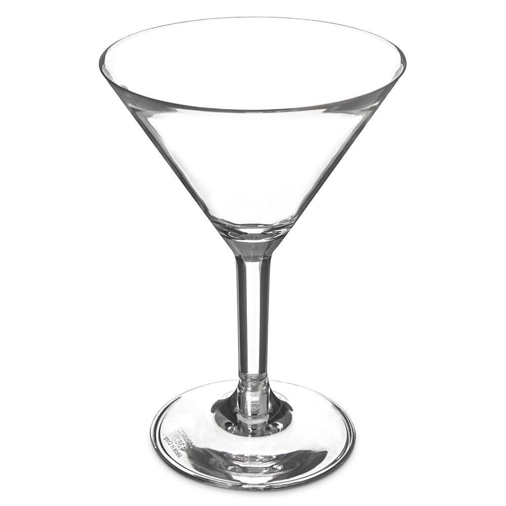 Carlisle 4362707 8 oz Martini Glass, Polycarbonate, Clear