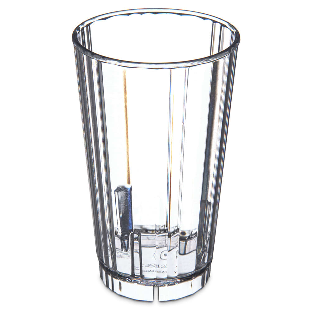 Carlisle 4363307 8 oz Fluted Tumbler w/ Slotted Base, Polycarbonate, Clear