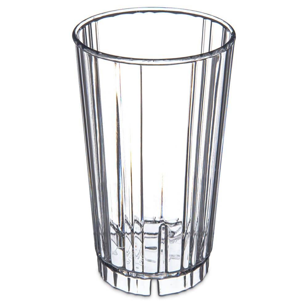 Carlisle 4363607 12 oz Fluted Tumbler w/ Slotted Base, Polycarbonate, Clear