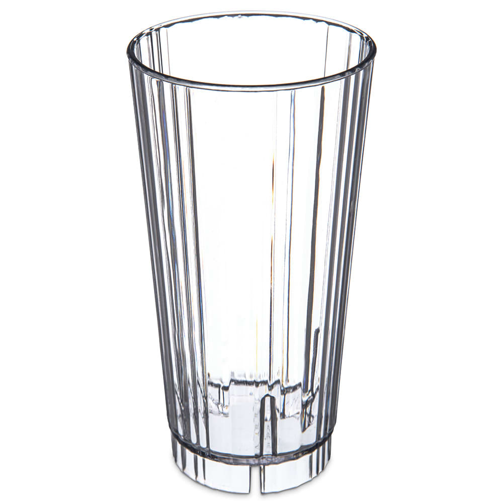 Carlisle 4364007 22-oz Fluted Tumbler w/ Slotted Base, Polycarbonate, Clear
