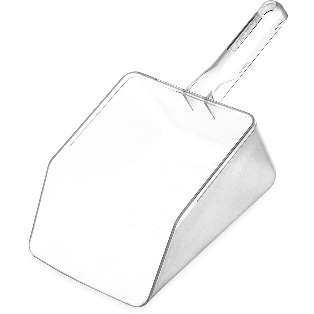 Carlisle 436407 64-oz Ice Scoop w/ Hanging Hole, Polycarbonate, Clear