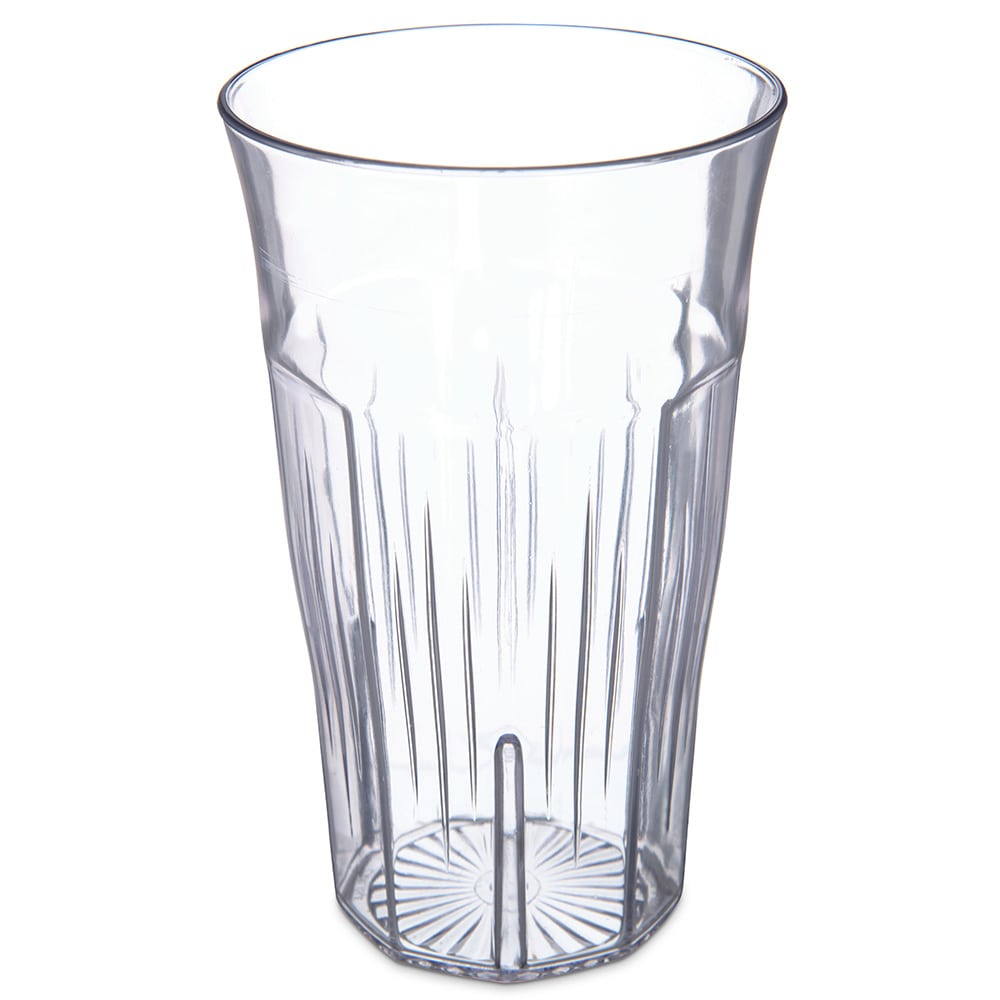 Carlisle 4364707 6-oz Stackable Tumbler w/ Flared Lip, Clear