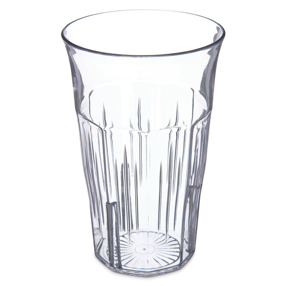 Carlisle 4364807 8-oz Stackable Tumbler w/ Flared Lip, Clear