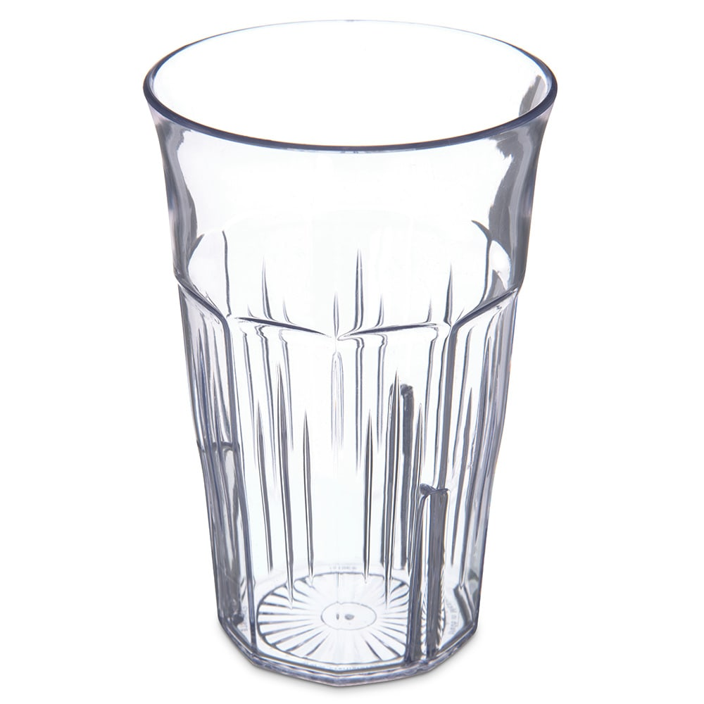 Carlisle 4365107 12 oz Stackable Tumbler w/ Flared Lip, Clear