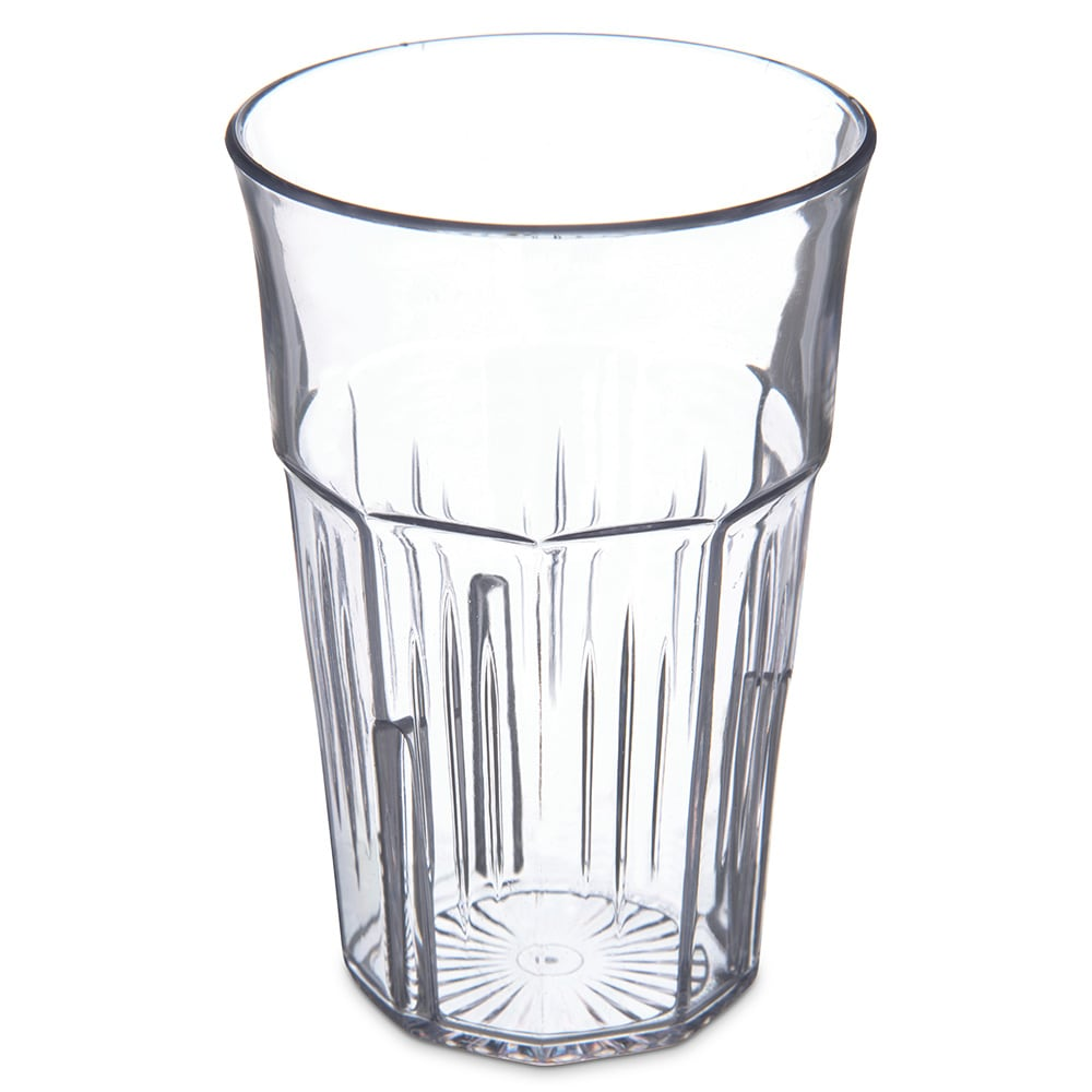 Carlisle 4365307 16 oz Stackable Tumbler w/ Flared Lip, Clear