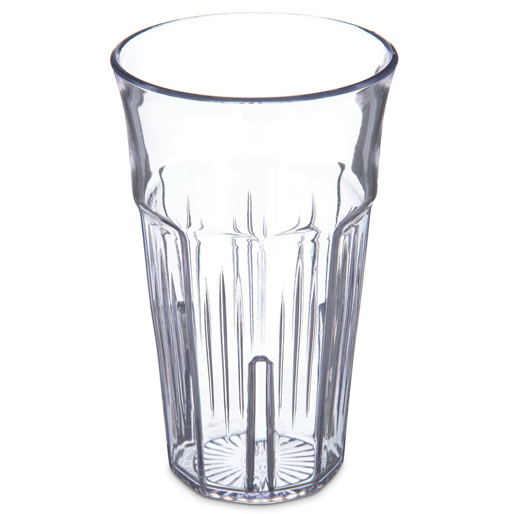 Carlisle 4365507 22 oz Stackable Tumbler w/ Flared Lip, Clear