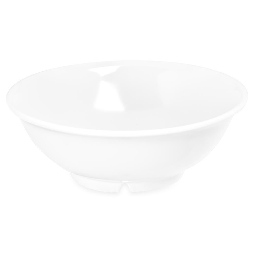"Carlisle 4373702 7.375"" Round Serving Bowl w/ 24 oz Capacity, Melamine, White"