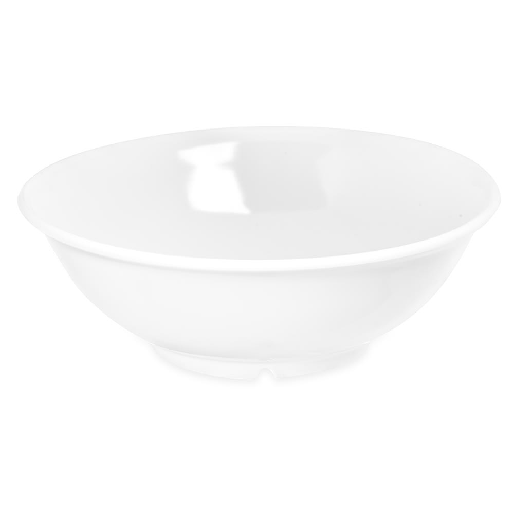 "Carlisle 4373802 8.625"" Round Serving Bowl w/ 36-oz Capacity, Melamine, White"
