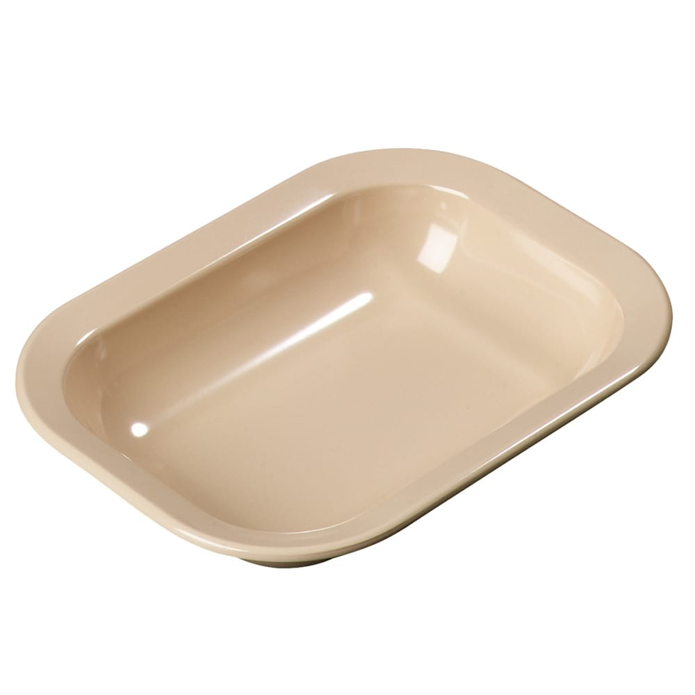 "Carlisle 4374525 Rectangular Serving Bowl w/ 32.1-oz Capacity, 10.06"" x 7.5"" x 2"", Melamine, Tan"