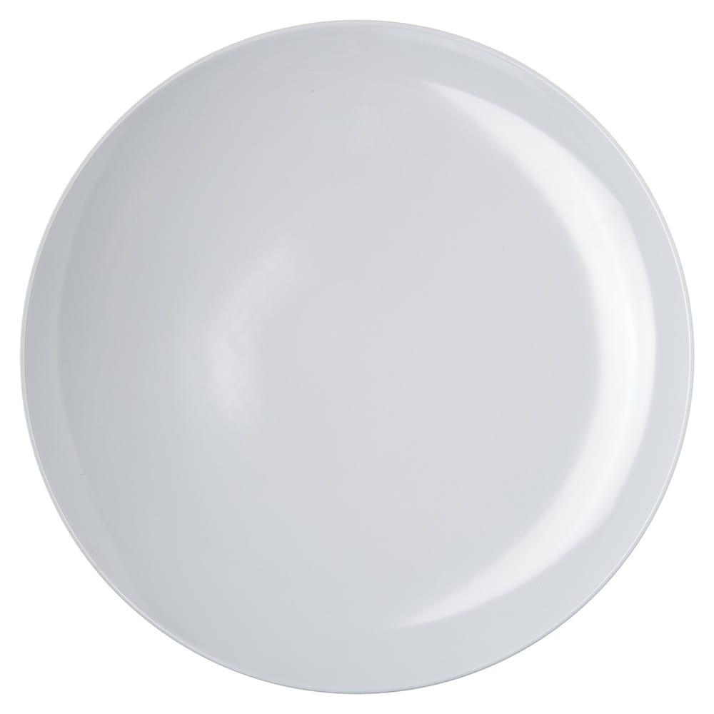 "Carlisle 4380002 12"" Round Coupe Pizza Plate, Melamine, White"