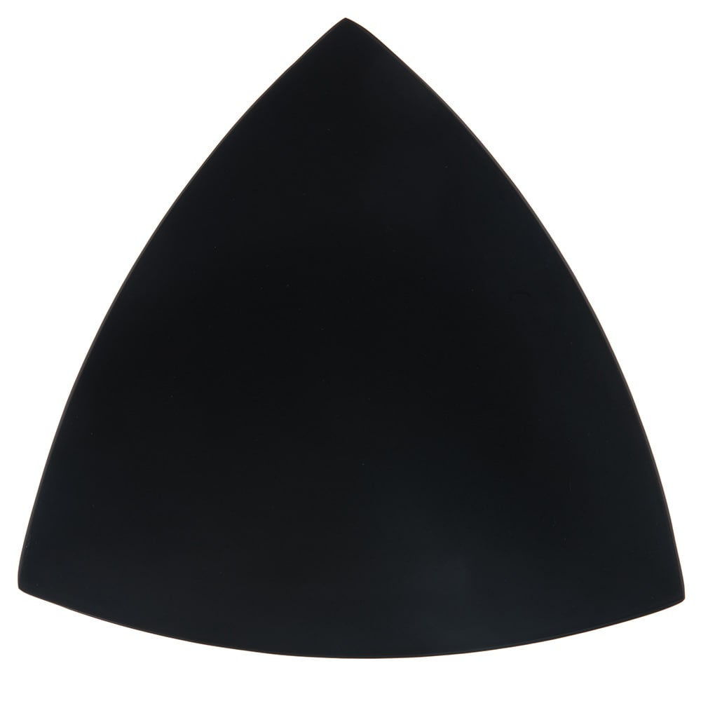 "Carlisle 4380603 11"" Triangular Coupe Plate, Melamine, Black"