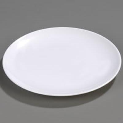 "Carlisle 4380902 16"" Round Display Platter - Melamine, White"