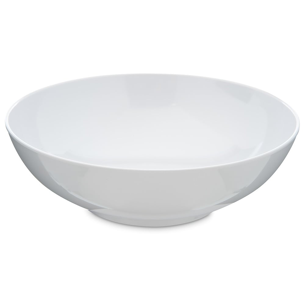 "Carlisle 4381302 8"" Round Serving Bowl w/ 40-oz Capacity, Melamine, White"