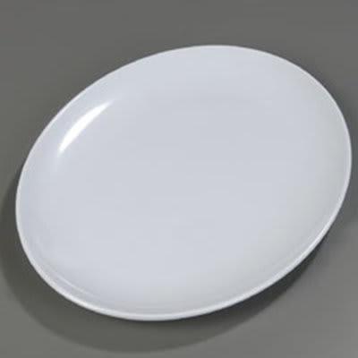 Carlisle 4383202 Oval 18-in Melamine Display Platter, White