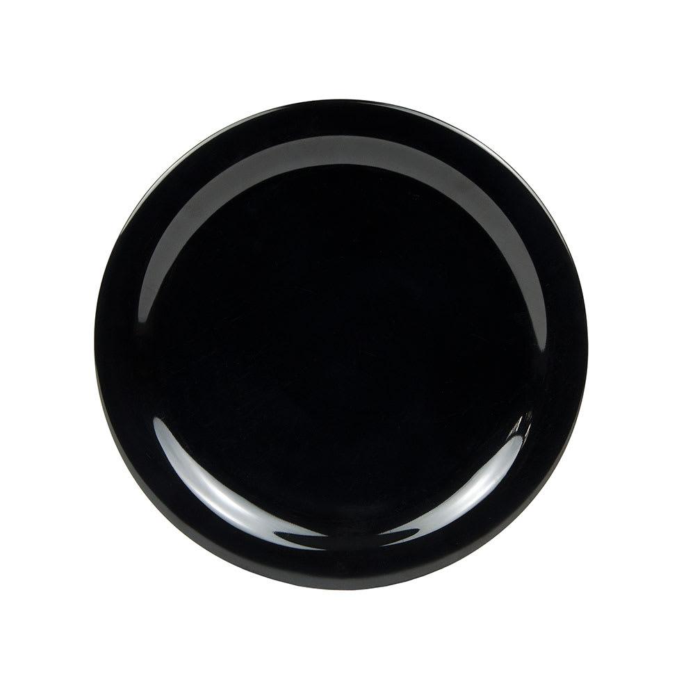 "Carlisle 4385003 10.25"" Round Dinner Plate, Melamine, Black"