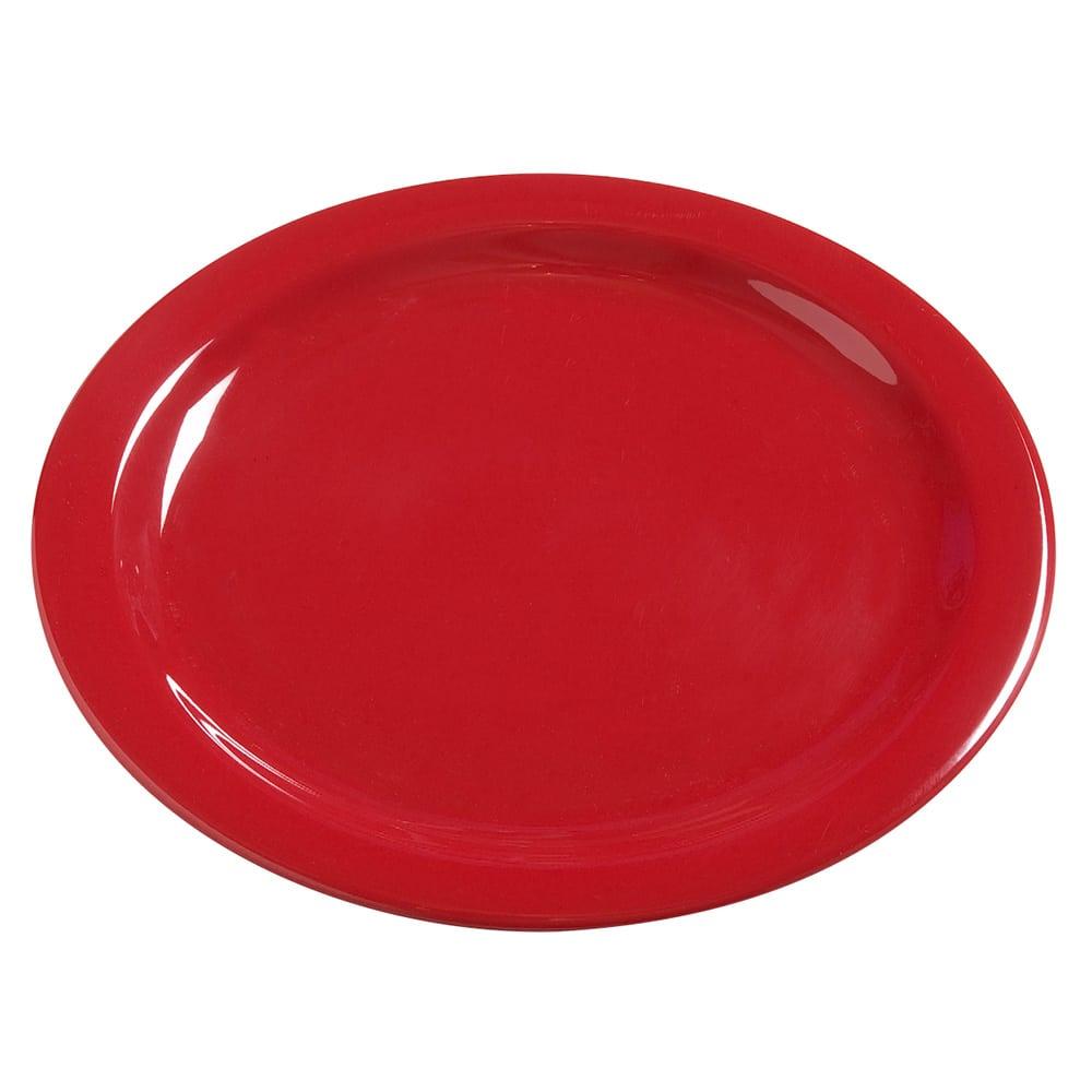 "Carlisle 4385005 10.25"" Round Dinner Plate, Melamine, Red"