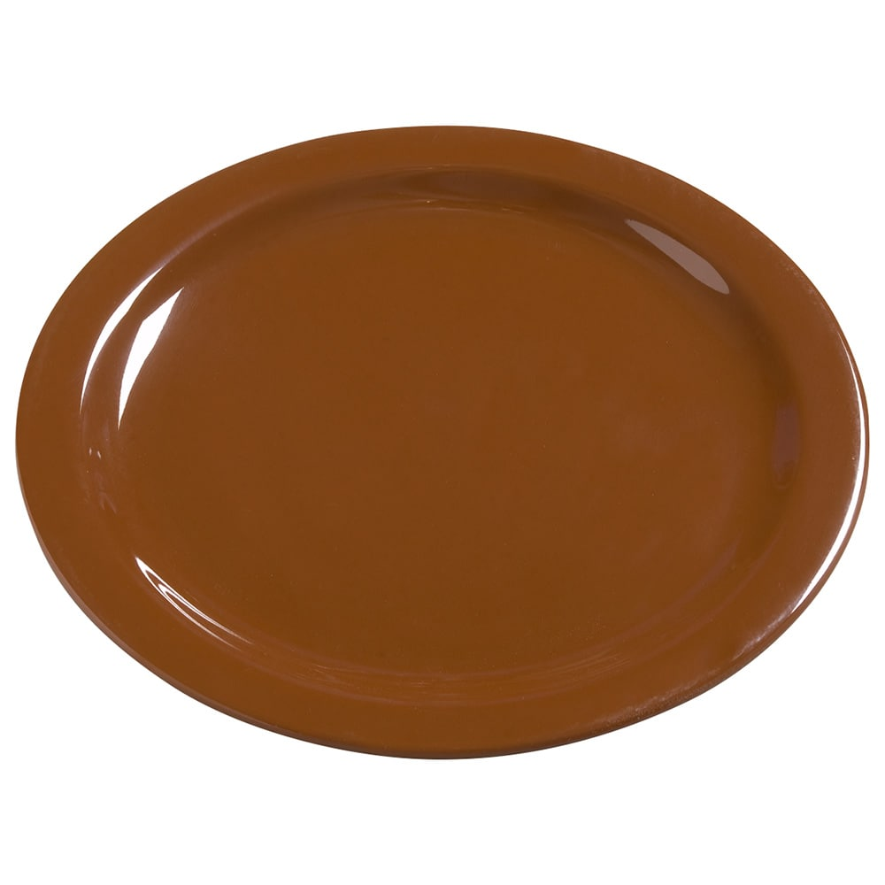 "Carlisle 4385043 10.25"" Round Dinner Plate, Melamine, Toffee"