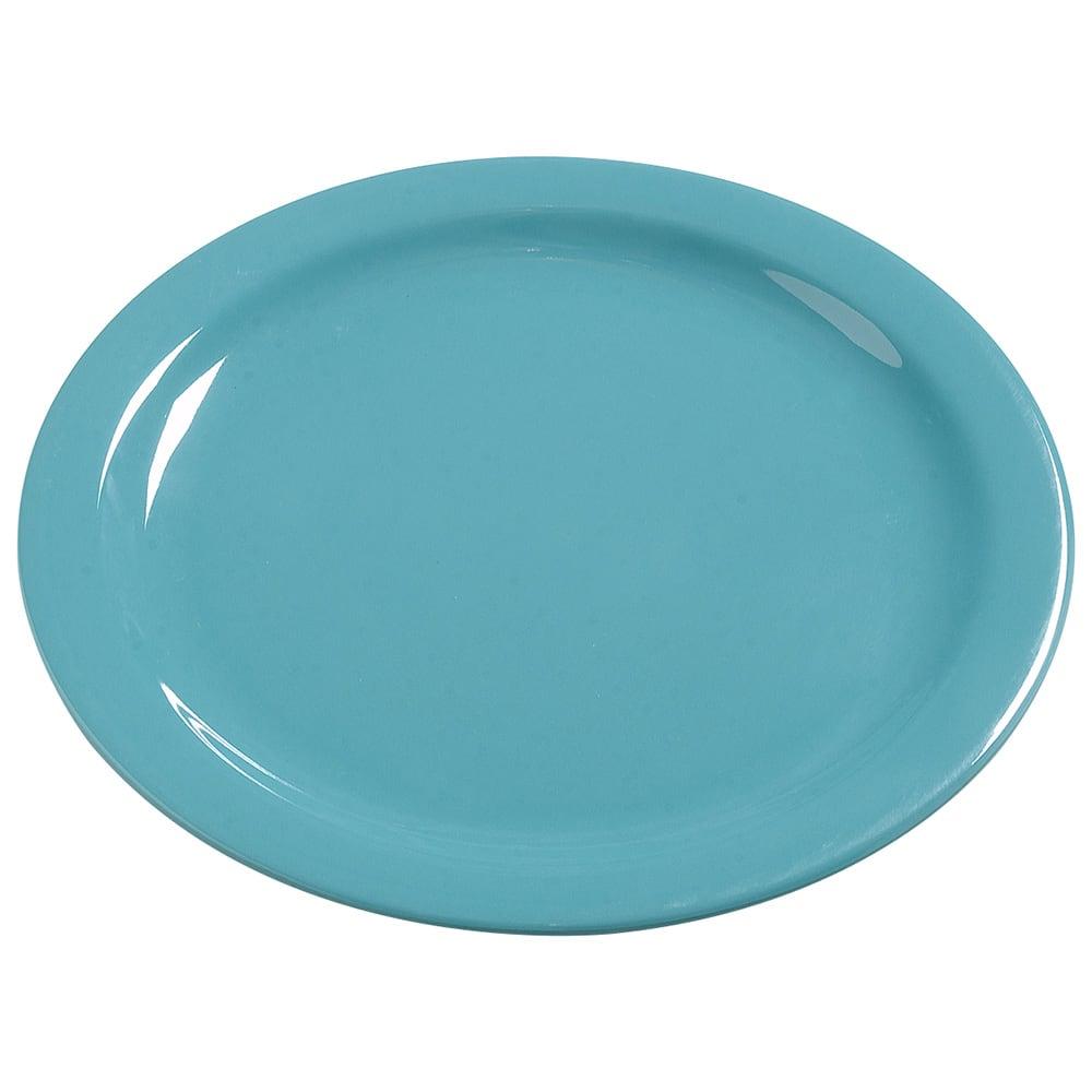 "Carlisle 4385063 10.25"" Round Dinner Plate, Melamine, Turquoise"