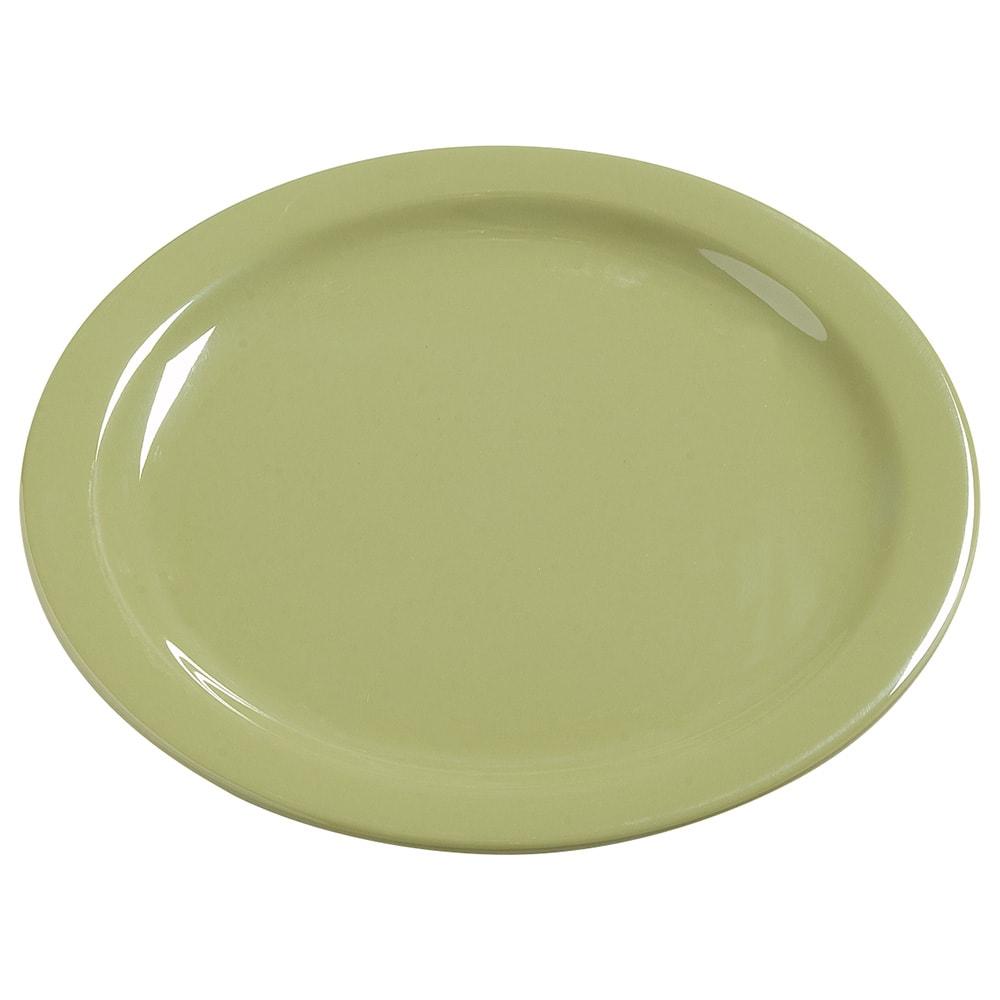 "Carlisle 4385082 10.25"" Round Dinner Plate, Melamine, Wasabi"