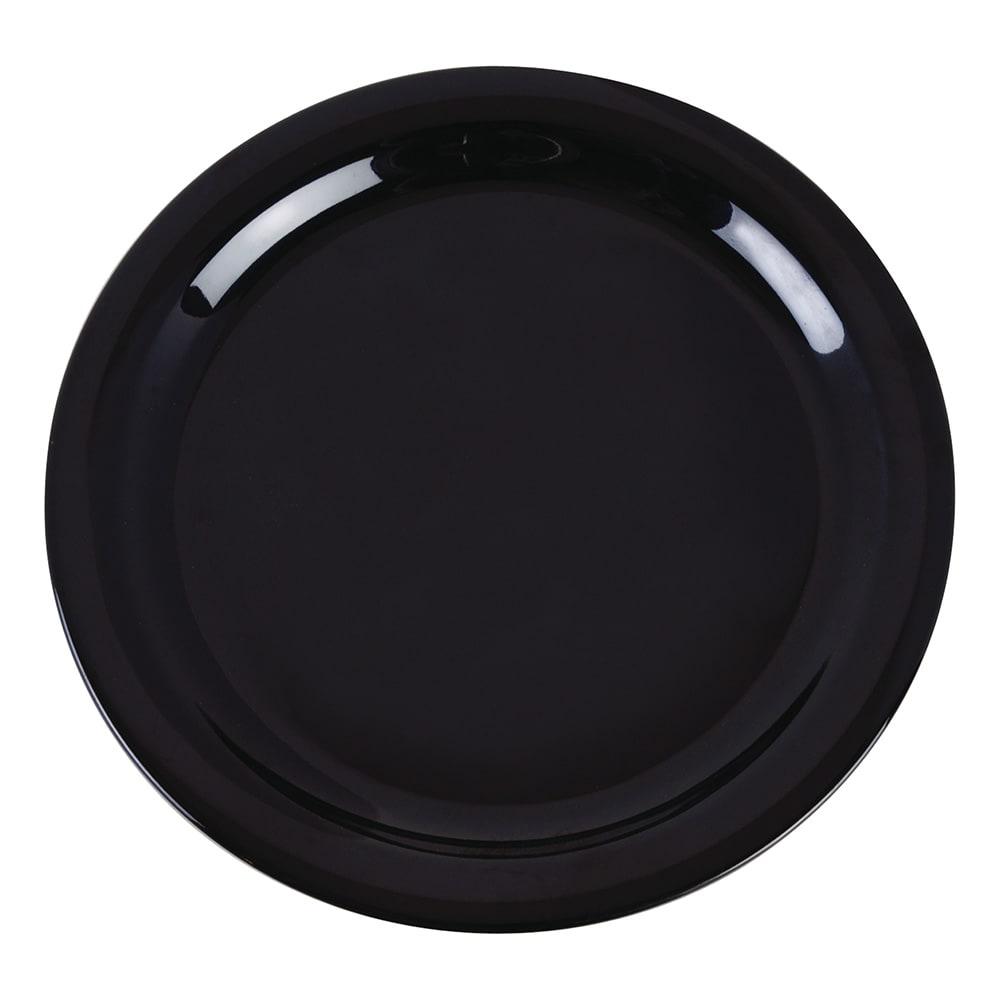 "Carlisle 4385203 9"" Round Dinner Plate, Melamine, Black"