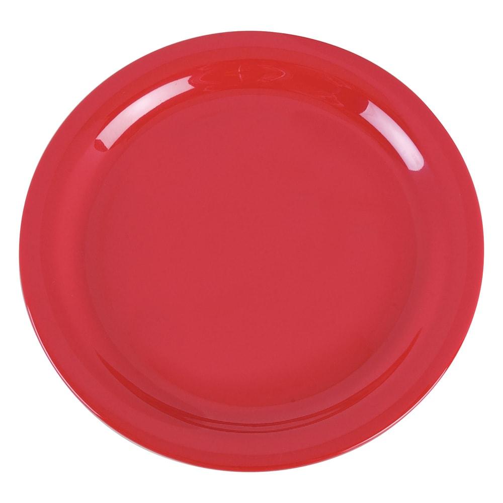 "Carlisle 4385205 9"" Round Dinner Plate, Melamine, Red"