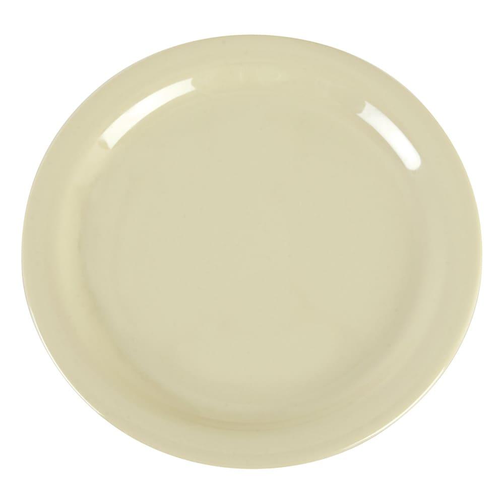 "Carlisle 4385206 9"" Round Dinner Plate, Melamine, Oatmeal"
